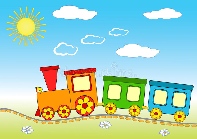 Tren del bebé. libre illustration
