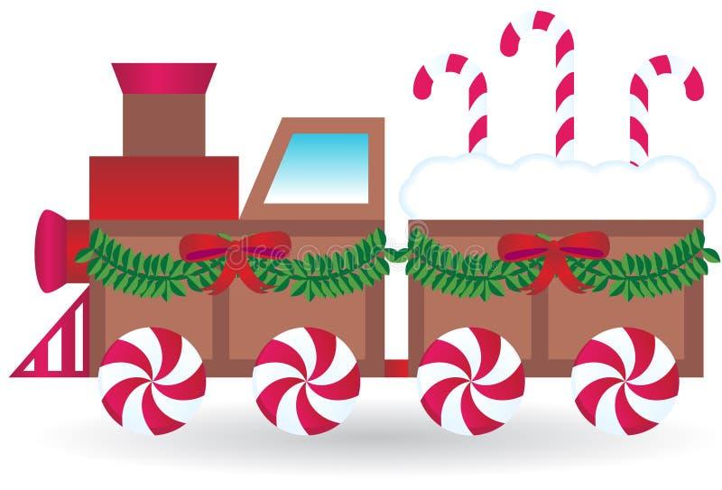 Tren del caramelo stock de ilustración