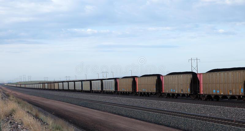 Tren del carbón imagen de archivo