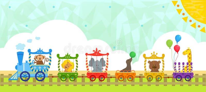 Tren del circo con el fondo libre illustration