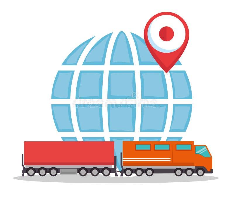 Tren del envío gratis de la importación ilustración del vector