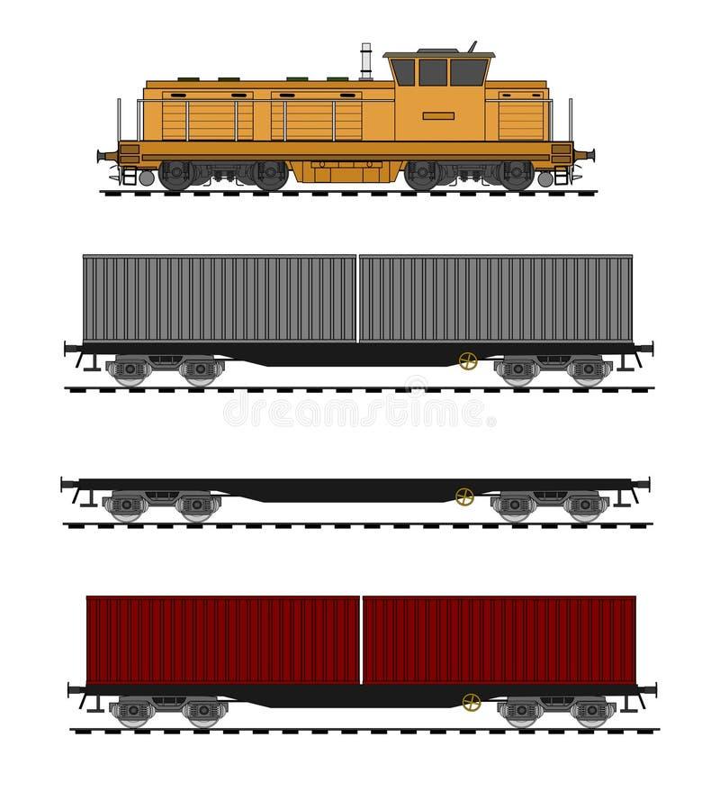 Tren del envase libre illustration