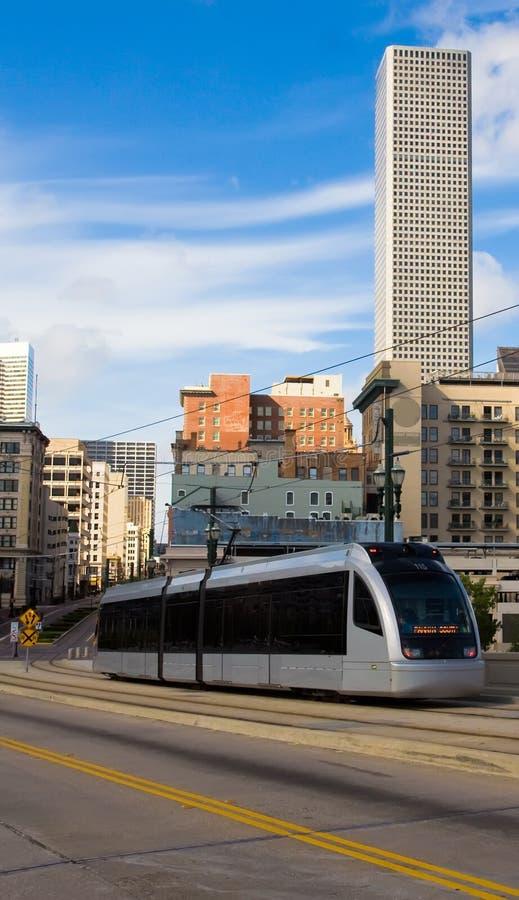 Tren del metro de Houston fotografía de archivo