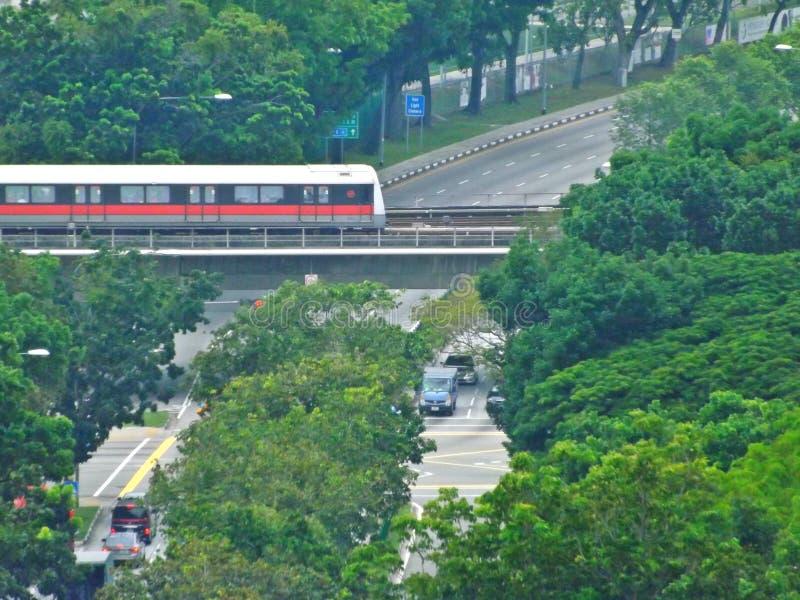 Tren del MRT - Singapur foto de archivo libre de regalías