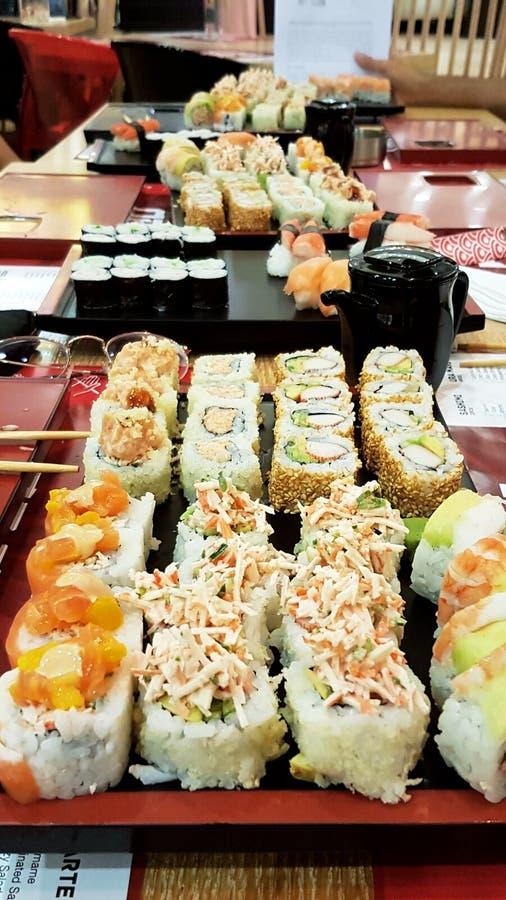 Tren del sushi fotografía de archivo