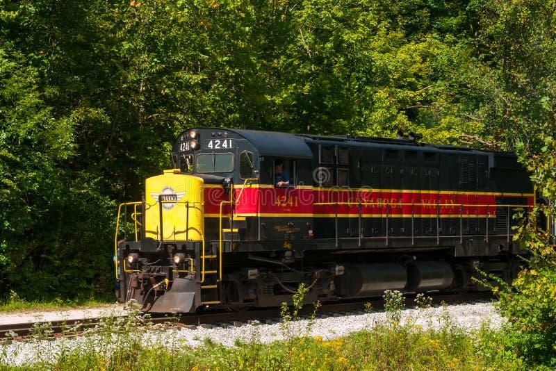 Tren del valle de Cuyahoga imagen de archivo