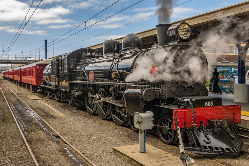 Tren del vapor de Nueva Zelanda fotos de archivo libres de regalías