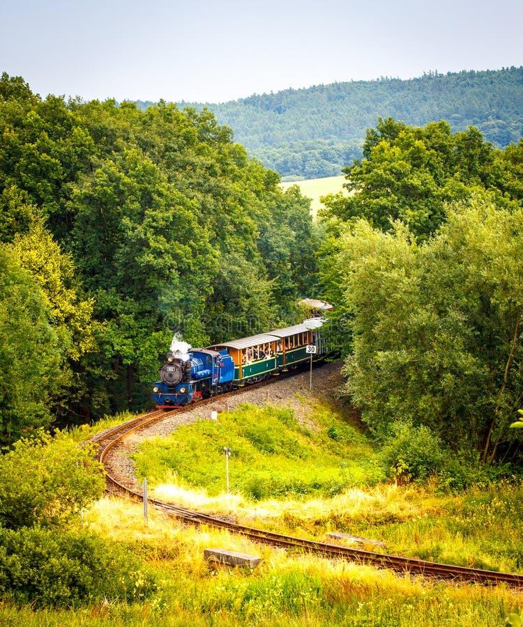 tren del vapor del Estrecho-indicador foto de archivo libre de regalías
