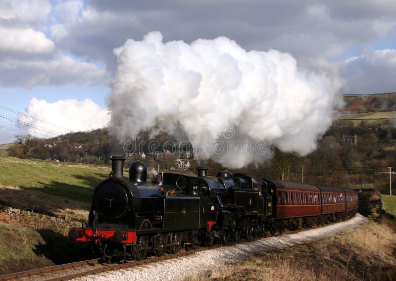 Tren del vapor en el país de Bronte foto de archivo libre de regalías