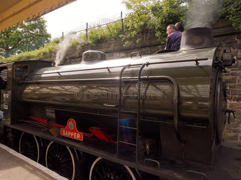 Tren del vapor que toma en el agua fotos de archivo libres de regalías