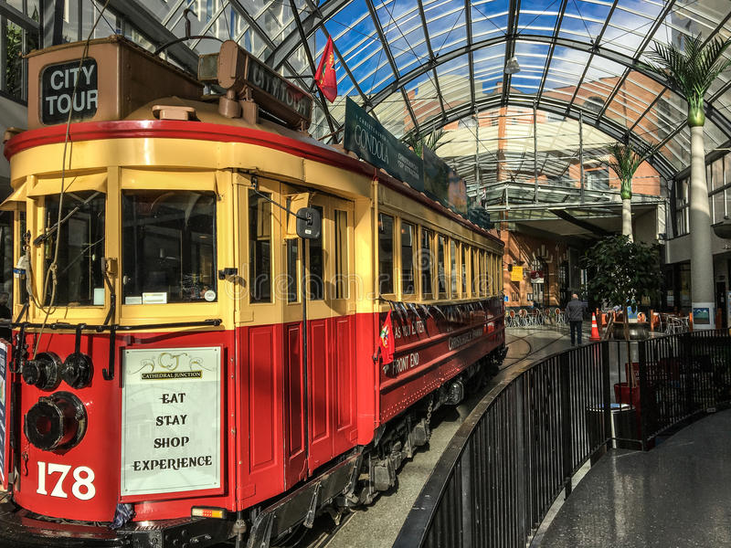 Tren del viaje en Christchurch fotografía de archivo
