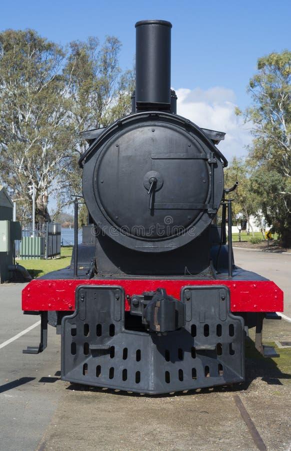 Tren desarmado del vapor, Murray Bridge, sur de Australia foto de archivo