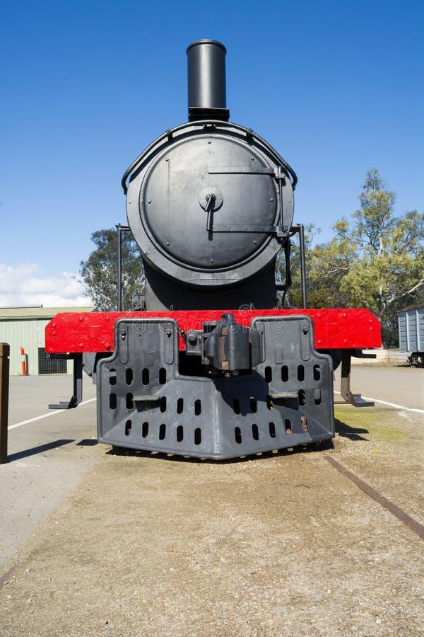 Tren desarmado del vapor, Murray Bridge, sur de Australia fotografía de archivo libre de regalías