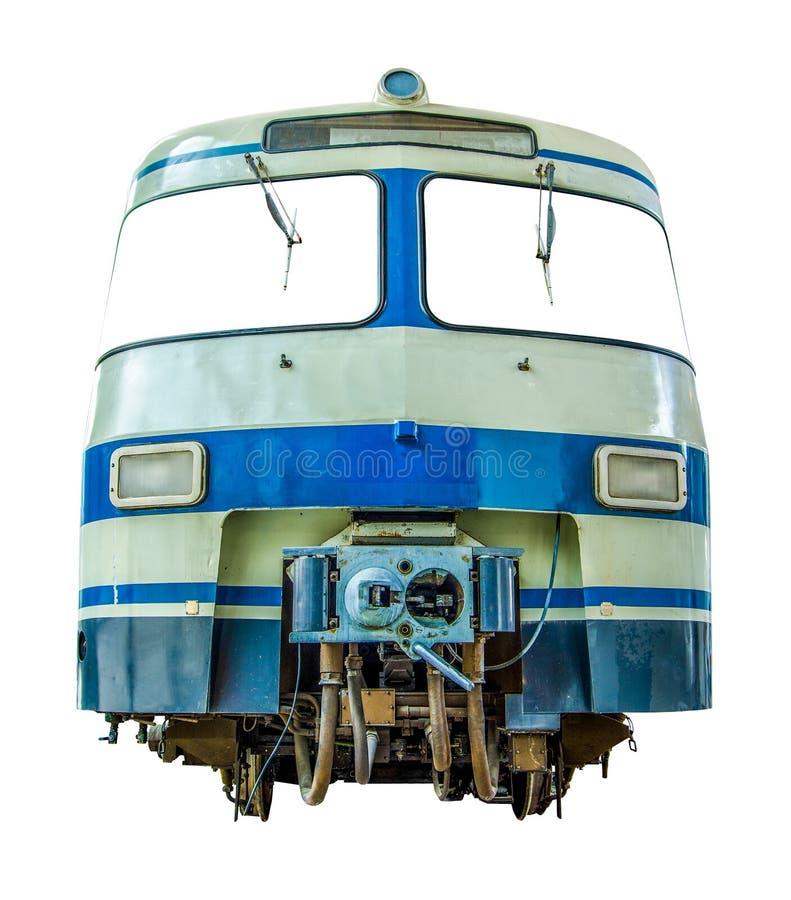 Tren diesel aislado del vintage fotografía de archivo libre de regalías
