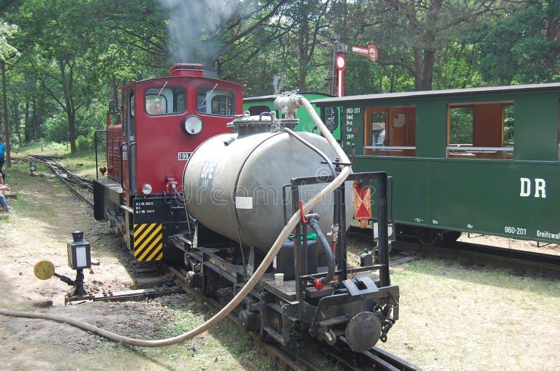 Tren diesel del indicador estrecho foto de archivo