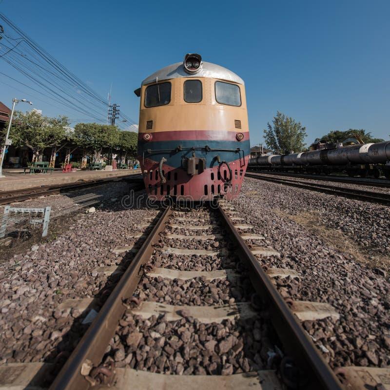 Tren diesel viejo fotografía de archivo