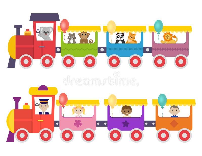 Tren divertido ilustración del vector