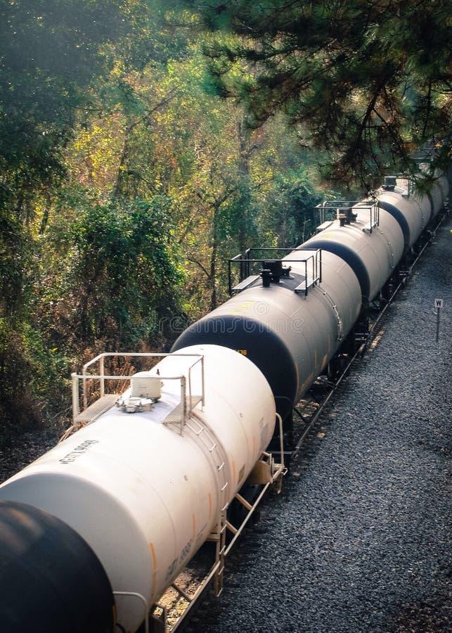 Tren en el bosque fotos de archivo