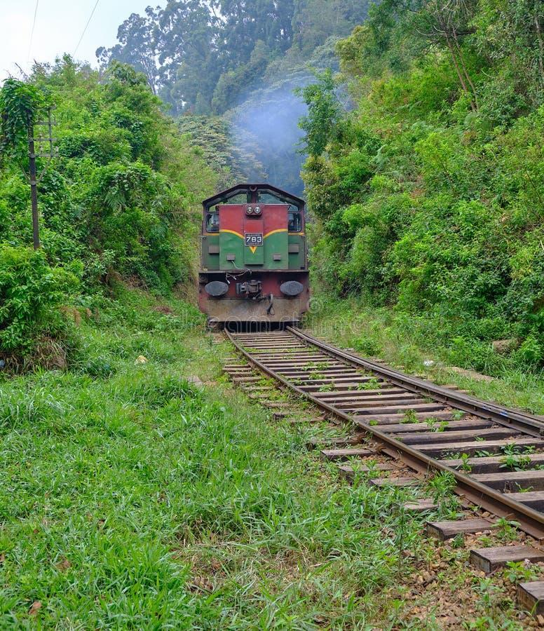 Tren en Sri Lanka fotografía de archivo