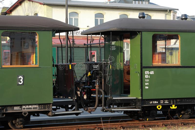 Tren en Zittauer Gebirge fotografía de archivo libre de regalías