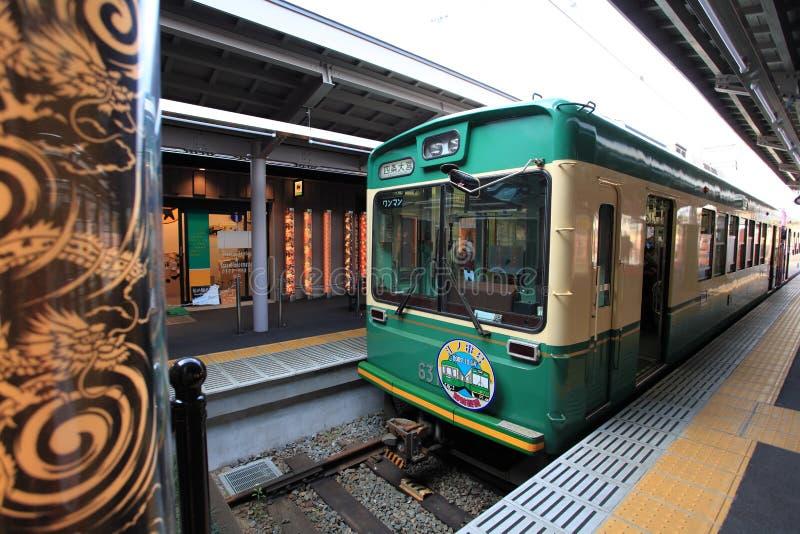 Tren escénico de Japón, Kyoto, Japón imagen de archivo