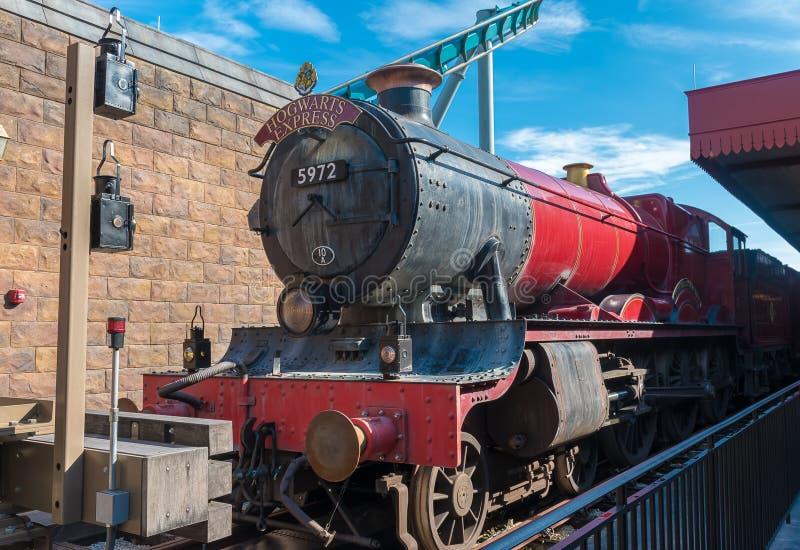 Tren expreso de Hogwarts fotografía de archivo libre de regalías