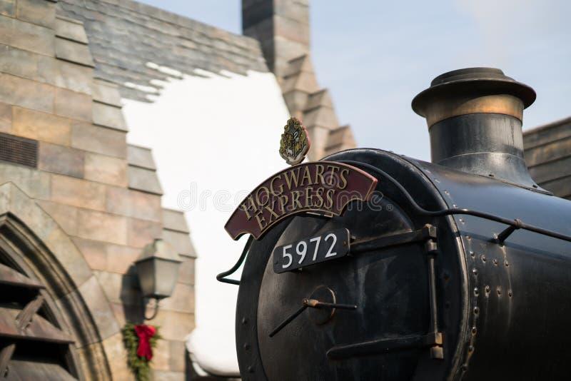 Tren expreso de Hogwarts en las películas de Harry Potter foto de archivo libre de regalías