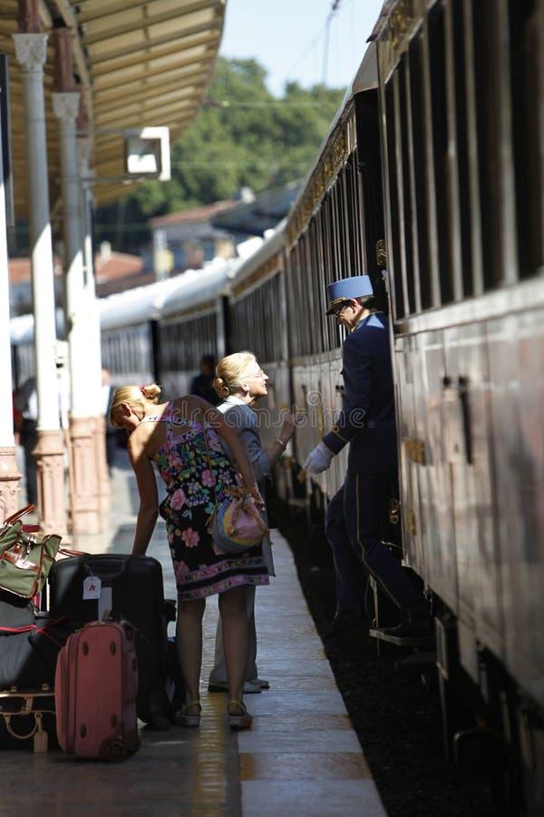 Tren expreso de Oriente imagenes de archivo