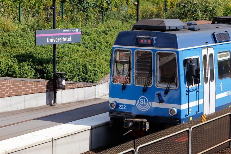 Tren expreso suburbano de Estocolmo foto de archivo