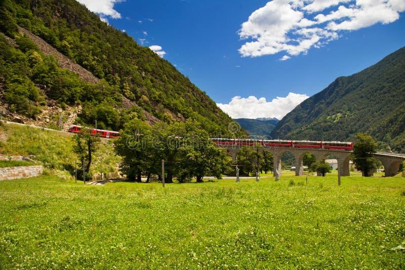 Tren famoso del suizo del mundo foto de archivo libre de regalías