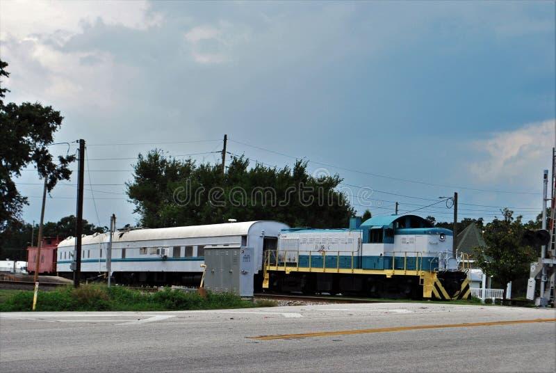 Tren histórico en el fuerte Meade Florida fotos de archivo libres de regalías