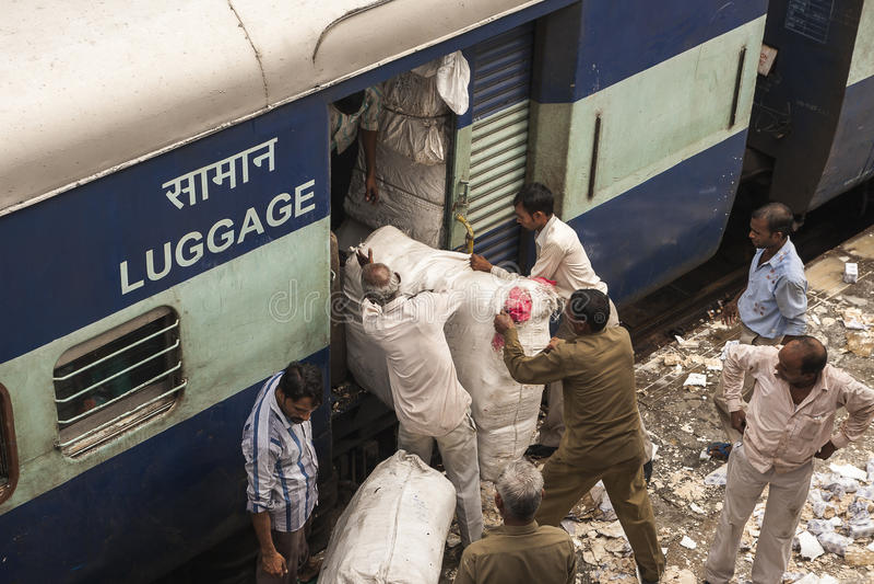 Tren indio imágenes de archivo libres de regalías