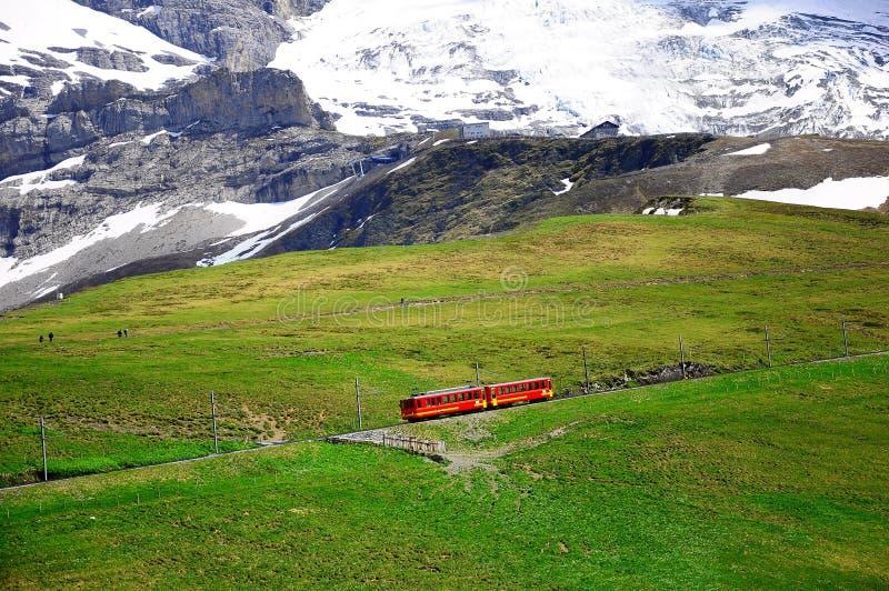Tren a Jungfraujoch. Suiza. fotos de archivo