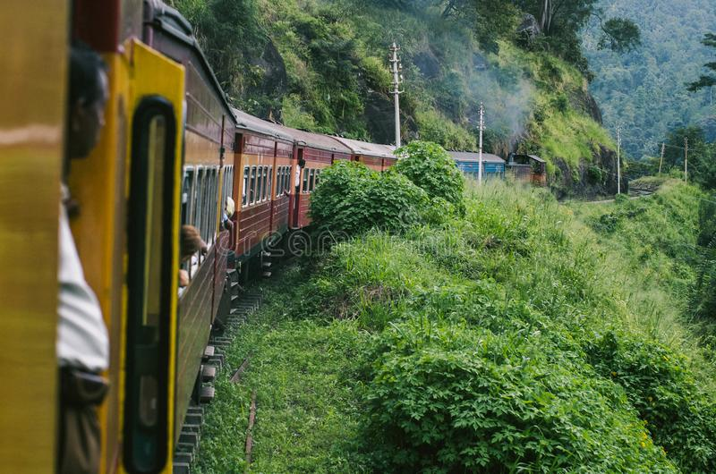 Tren a Kandy en Sri fotografía de archivo libre de regalías