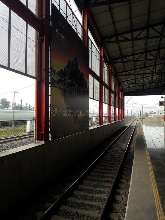 Tren ligero Buena Vista DF Mexico City Ecatepec area metropolitana. Suburban train royalty free stock image