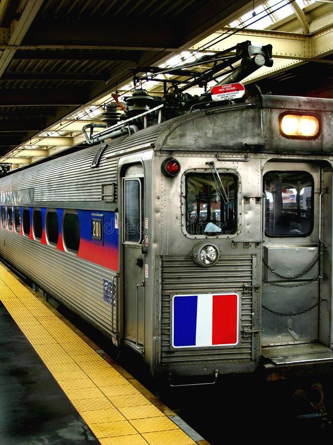 Tren ligero del carril fotografía de archivo libre de regalías