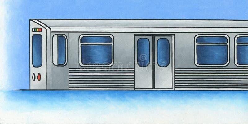 Tren ligero 1 del carril foto de archivo