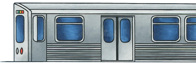 Tren ligero 1 del carril - ningún fondo imagen de archivo