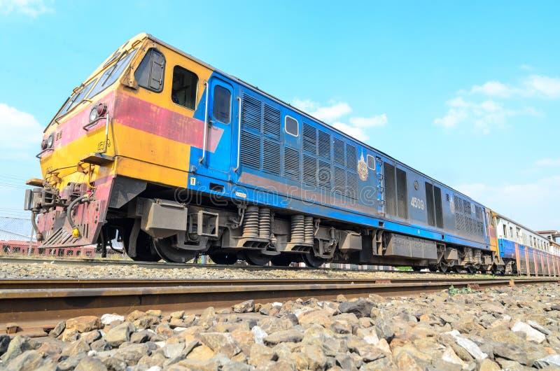 Tren locomotor de HITACHI Tailandia. fotos de archivo