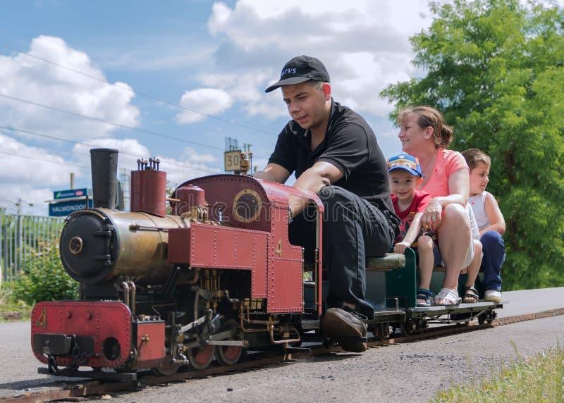 Tren miniatura grande del vapor fotos de archivo libres de regalías