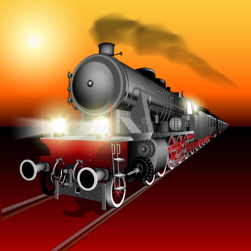 Tren nocturno libre illustration