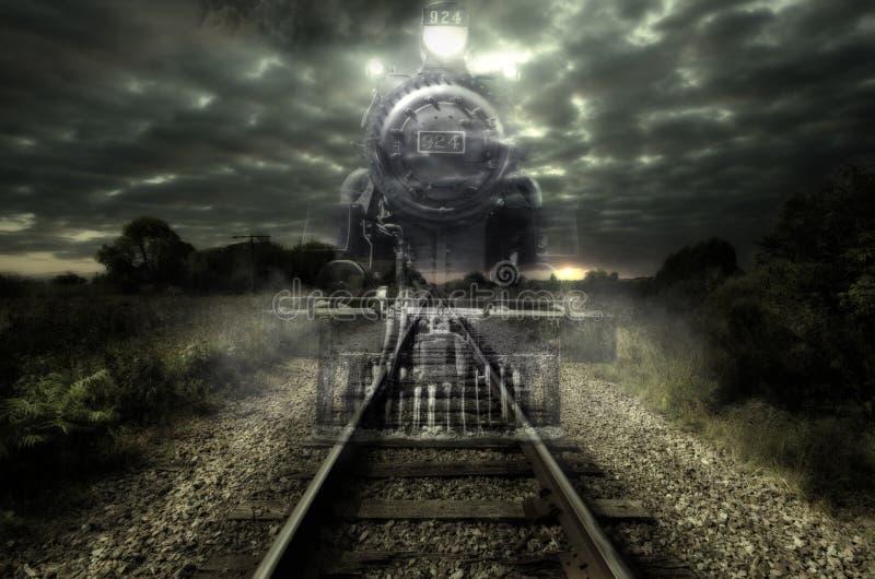 Tren nocturno expreso stock de ilustración