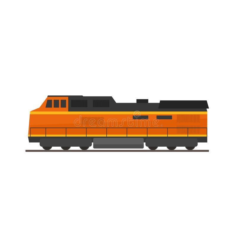 Tren o locomotora de carga libre illustration