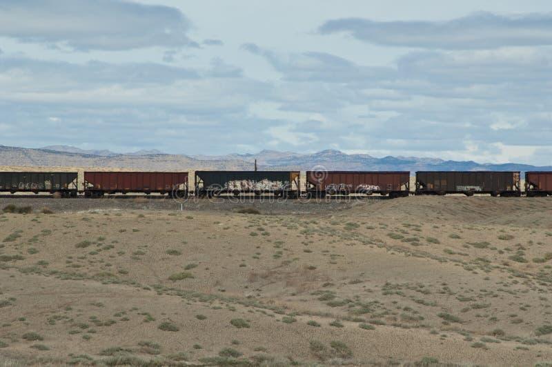 Tren occidental del carbón imágenes de archivo libres de regalías