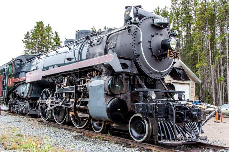Tren pacífico canadiense del vapor imagen de archivo
