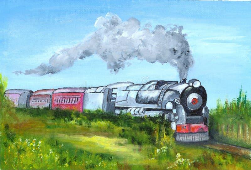 Tren pintado ilustración del vector