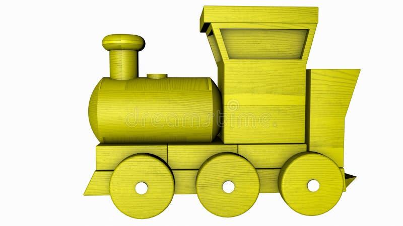 Tren pl?stico con los carros en un blanco representaci?n 3d libre illustration