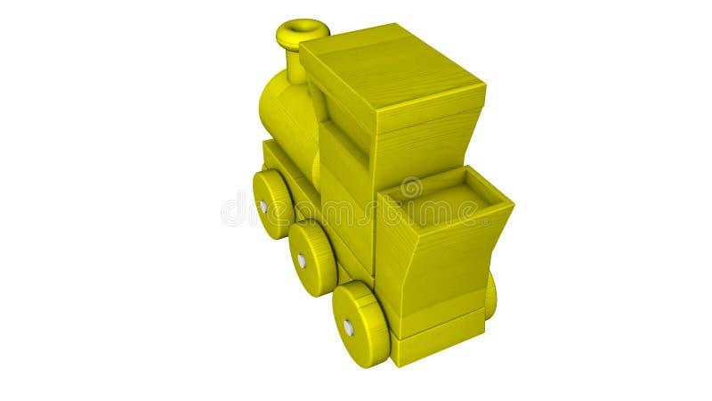 Tren pl?stico con los carros en un blanco representaci?n 3d ilustración del vector