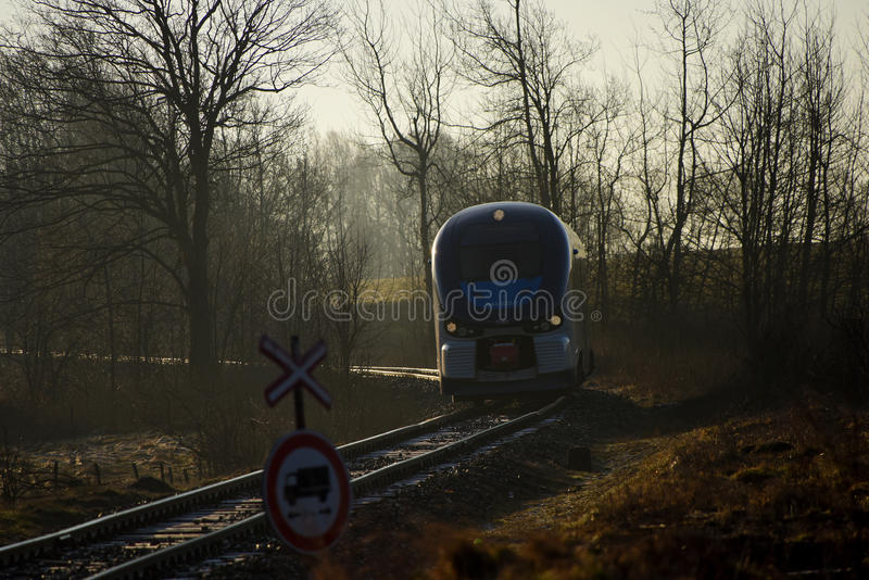 Tren Regioshark por mañana imagen de archivo libre de regalías