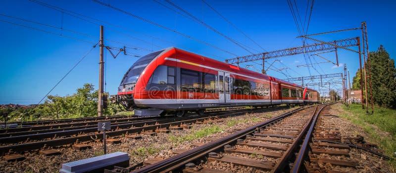 Tren rojo foto de archivo